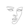 Leinwandbild Motiv Abstract face icon