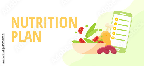 Diet and nutrition concept Nutritionists planning a diet using a food