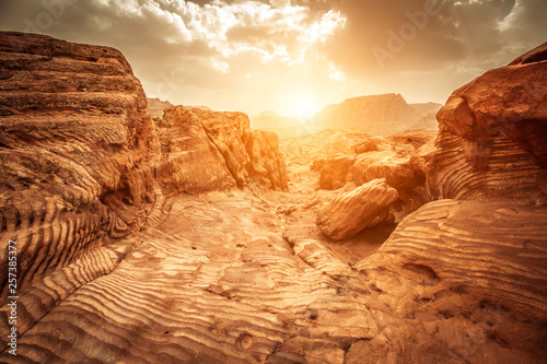 sandstone rocks in petra