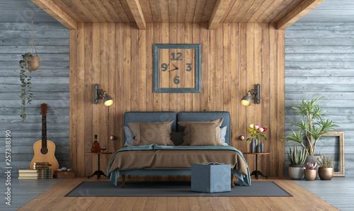 Fotografía  Master bedroom in rustic style