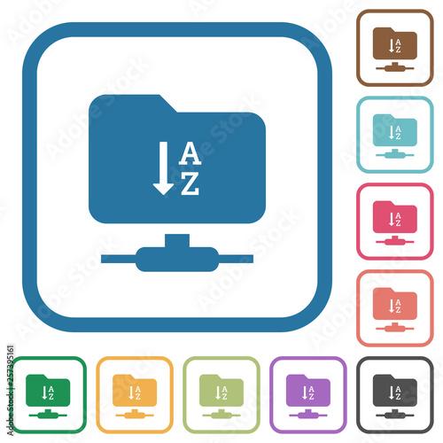 FTP sort ascending simple icons Canvas Print