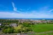 canvas print picture - Blick vom Arthur´s Seat auf Edinburgh mit Holyrood Palace