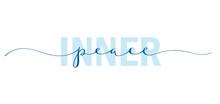 INNER PEACE Typography Banner With Hand Lettering
