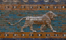 Glazed Brick Bas Relief Of Ish...