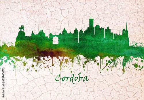 Cordoba Spain skyline Fototapeta