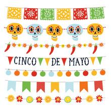 Set Of Cinco De Mayo Holiday G...