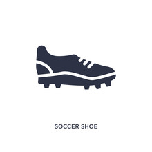 Soccer Shoe Icon On White Background. Simple Element Illustration From Clothes Concept.