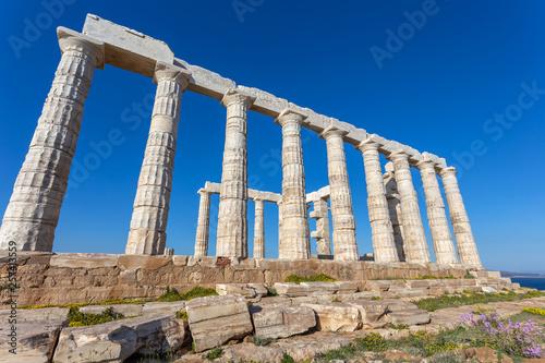 Foto  ruins ot the temple of Poseidon, Greece