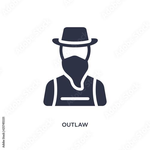 Fotografie, Tablou  outlaw icon on white background