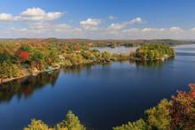 Autumn At Fairy Lake In Huntsville, Ontario, Canada