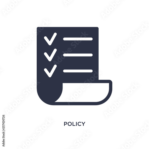 Photo  policy icon on white background