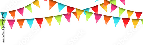 Fototapeta seamless colored garlands background obraz