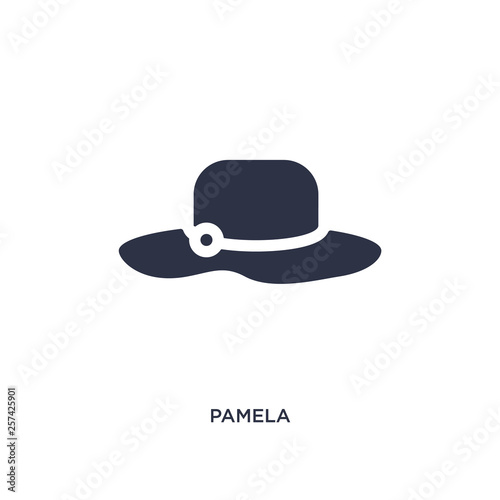 pamela icon on white background Wallpaper Mural