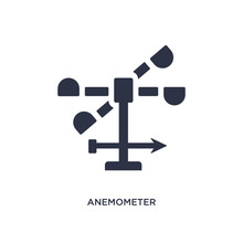 Anemometer Icon On White Background. Simple Element Illustration From Weather Concept.