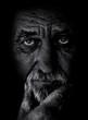 Leinwandbild Motiv Senior man portrait