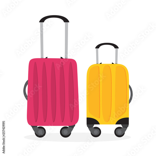 Baggage or luggage. Travel concept. Bag for tourism Canvas Print