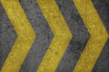 Gold Painted Concrete Arrow