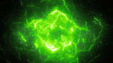 Green Glowing High Energy Ligh...