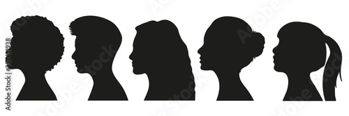Obraz Frauen Silhouetten Set - fototapety do salonu