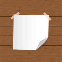 Paper Message And Wood Background