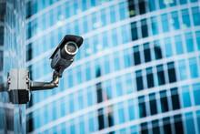 Hidden Surveillance Camera Installed On The Building