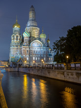 Church Of The Savior On Spilled Blood In Evening, Russia