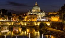 Rome At Night - A Panoramic Ni...
