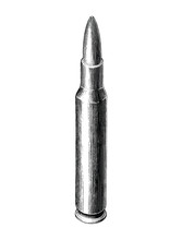 Bullet Hand Draw Vintage Style...