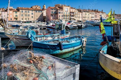 Cuadros en Lienzo Alter Hafen in Saint Tropez, Frankreich