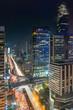 Bangkok in the night time long exposure at Sathorn in Bangkok, Thailand.