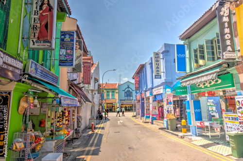 Singapore, Little India Canvas Print