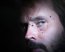 Close Up Of A Bearded Man's Fa...