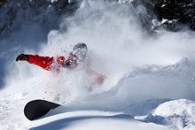 A Snowboarder Rips Untracked P...