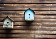 Wooden Bird Boxes Or Birdhouse...
