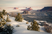 Castle Valley In Winter From Porcupine Rim, Utah.