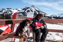 Male Ski Patroller Working At ...