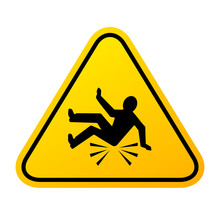 Accident Fall Warning Sign