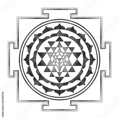 Fotografiet  Sri Yantra Chakra Mandala