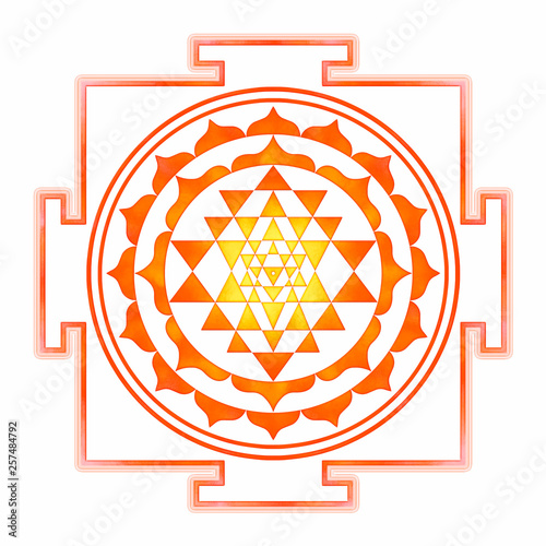 Sri Yantra Chakra Mandala Fototapet