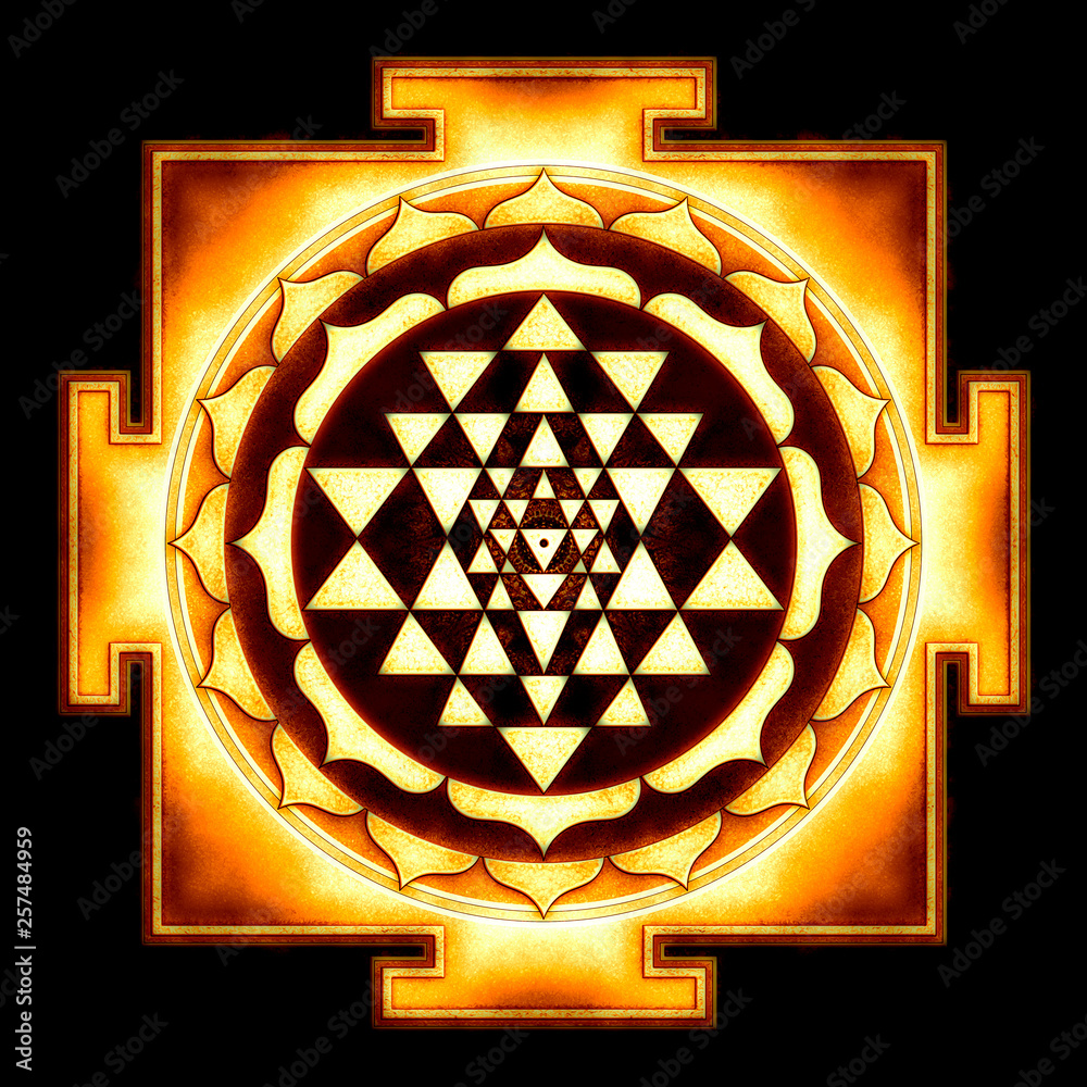 Fototapety, obrazy: Sri Yantra Chakra Mandala