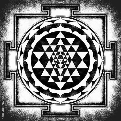Sri Yantra Chakra Mandala Canvas Print