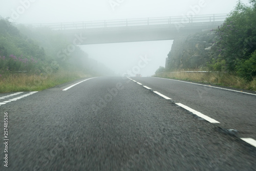 Foto auf AluDibond Grau A30 by pass near bodmin new section cornwall england uk dual carriageway
