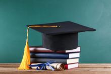 Graduation Cap With Diploma An...