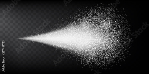Transparent water spray mist of atomizer or smoke, paint dust particles Fototapet