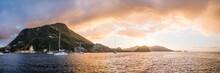 Sailboats Near Island Of Iles ...