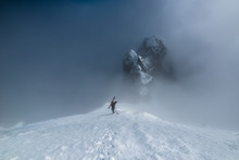 Mountain Climber With Skis Cli...