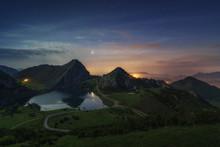 Covandonga Lakes At Night, Ast...