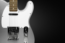 Guitar Electric Rock On A Blac...
