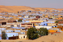 View Of Egyptian Houses In Aswan
