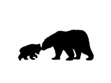 Bear Family Black Silhouette A...